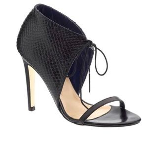 Black Tibi Tie Heeled Sandals